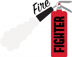 Fire Fighter Extinguisher Print Art