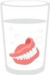 Dentures Glass Print Art