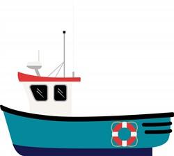 Fishing Boat Print Art