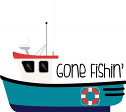 Gone Fishin Print Art