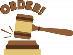 Courtroom Order Print Art