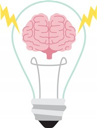 Brain Light Bulb Print Art