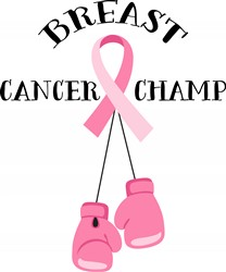 Breast Cancer Champ Print Art
