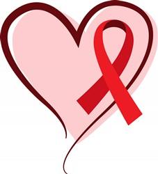 Aids Awareness Heart Print Art