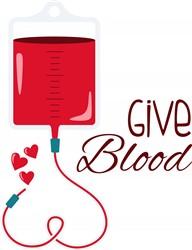 Give Blood Print Art