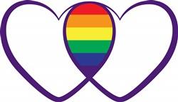 Gay Pride Hearts Print Art