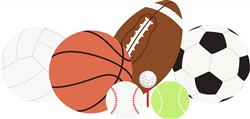 Sports Balls Print Art