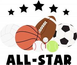 Sports All Star Print Art