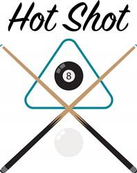 Billiards Hot Shot Print Art