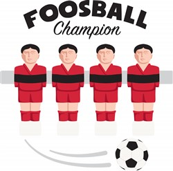 Foosball Champion Print Art