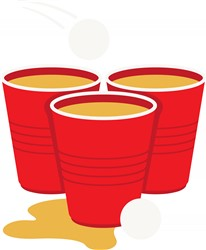 Beer Pong Cups Print Art