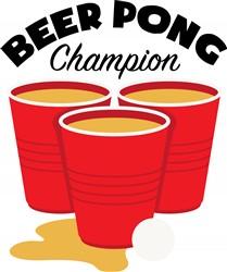 Beer Pong Champion Print Art