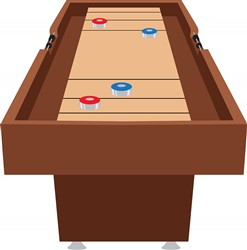 Shuffleboard Table Print Art