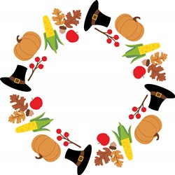 Thanksgiving Wreath Print Art