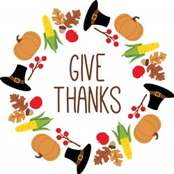 Give Thanks Wreath Print Art