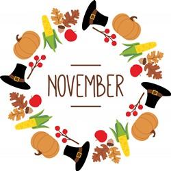 November Wreath Print Art