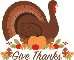 Give Thanks Turkey Print Art