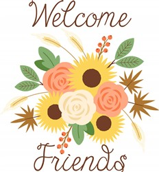 Welcome Harvest Bouquet Print Art