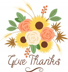 Give Thanks Bouquet Print Art
