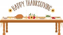 Happy Thanksgiving Dinner Print Art