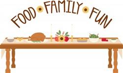 Food Family Fun Print Art