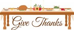 Give Thanks Dinner Print Art