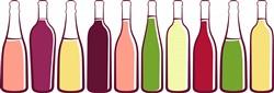 Wine Bottles Print Art