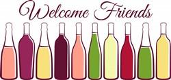 Welcome Friends Wine Print Art