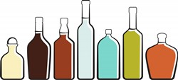 Liquor Bottles Print Art