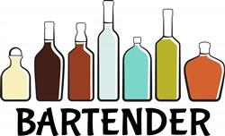 Bartender Bottles Print Art