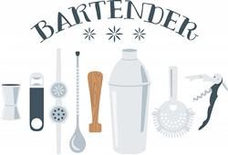 Bartender Mixing Tools Print Art