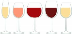 Glasses Of Wine Print Art