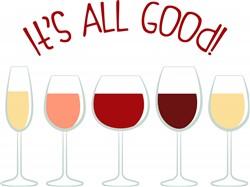 All Good Wine Print Art