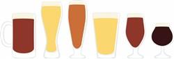 Glasses Of Beer Print Art