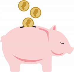 Piggy Bank Print Art