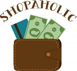 Shopaholic Wallet Print Art