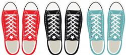 Grunge Shoes Print Art