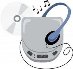 Compact Disc Walkman Print Art