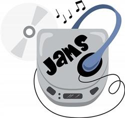 Jammin CD Walkman Print Art