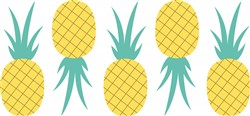 Pineapple Fruit Print Art