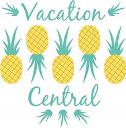 Pineapple Vacation Central Print Art