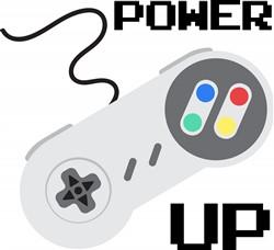 Power Up Controller Print Art