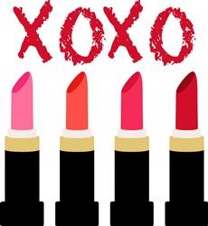 Lipstick XOXO Print Art