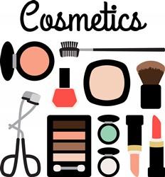 Assorted Cosmetics Print Art