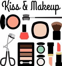 Kiss & Makeup Print Art