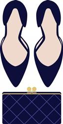 High Heels & Clutch Print Art