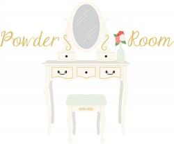 Powder Room Print Art