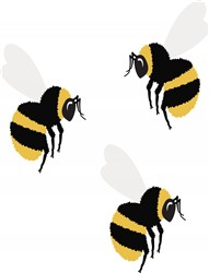 Three Bees Print Art