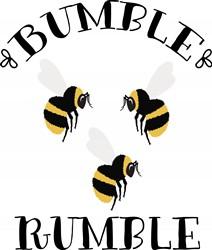 Bumble Rumble Bees Print Art