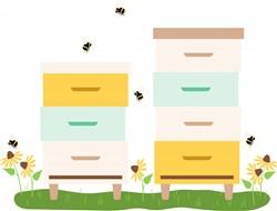 Bee Keeper Boxes Print Art